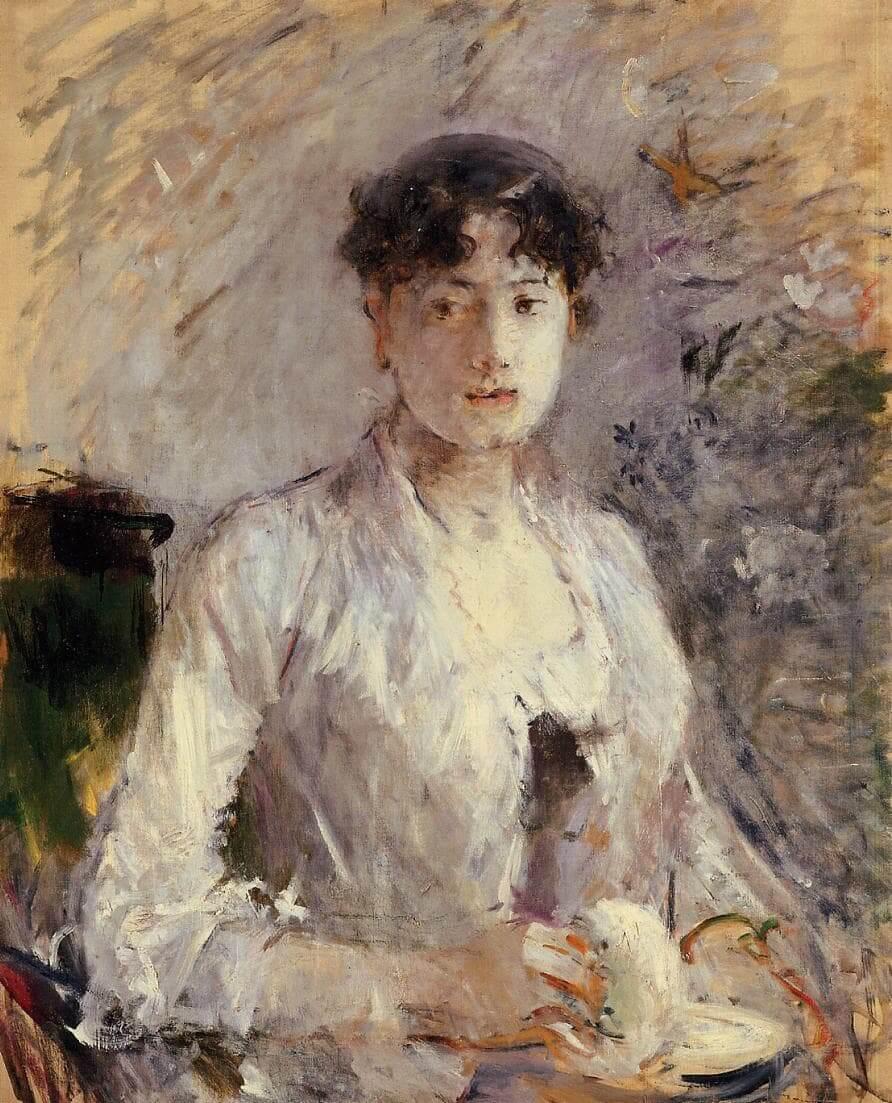 """""""Giovane donna in malva"""" di Berthe Morisot"""